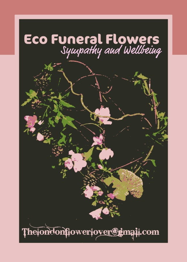 poster eco funeral flowers