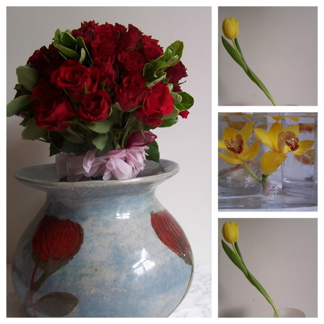 the london flower lover roses orchids tulips Collage