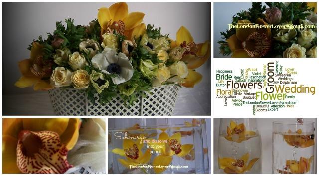 yellow wedding Collage