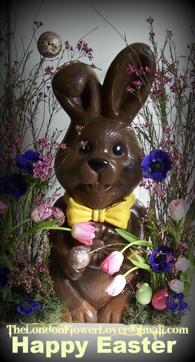 The london flower lover happy easter rabbit
