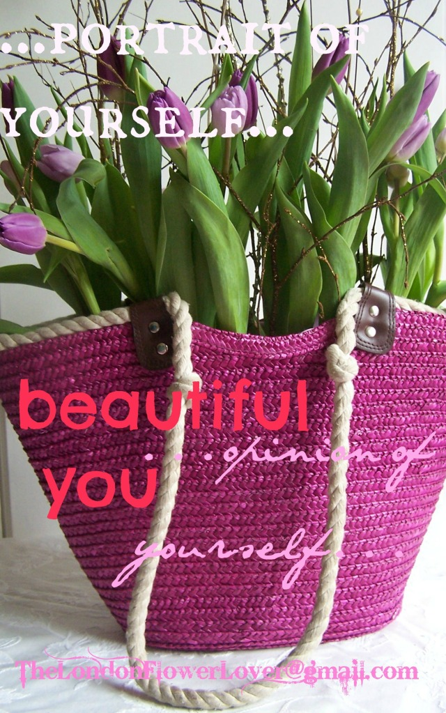 the london flower lover image of yourself beautiful you tulips in bag