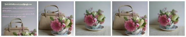 the london flower lover pink handbag Collage
