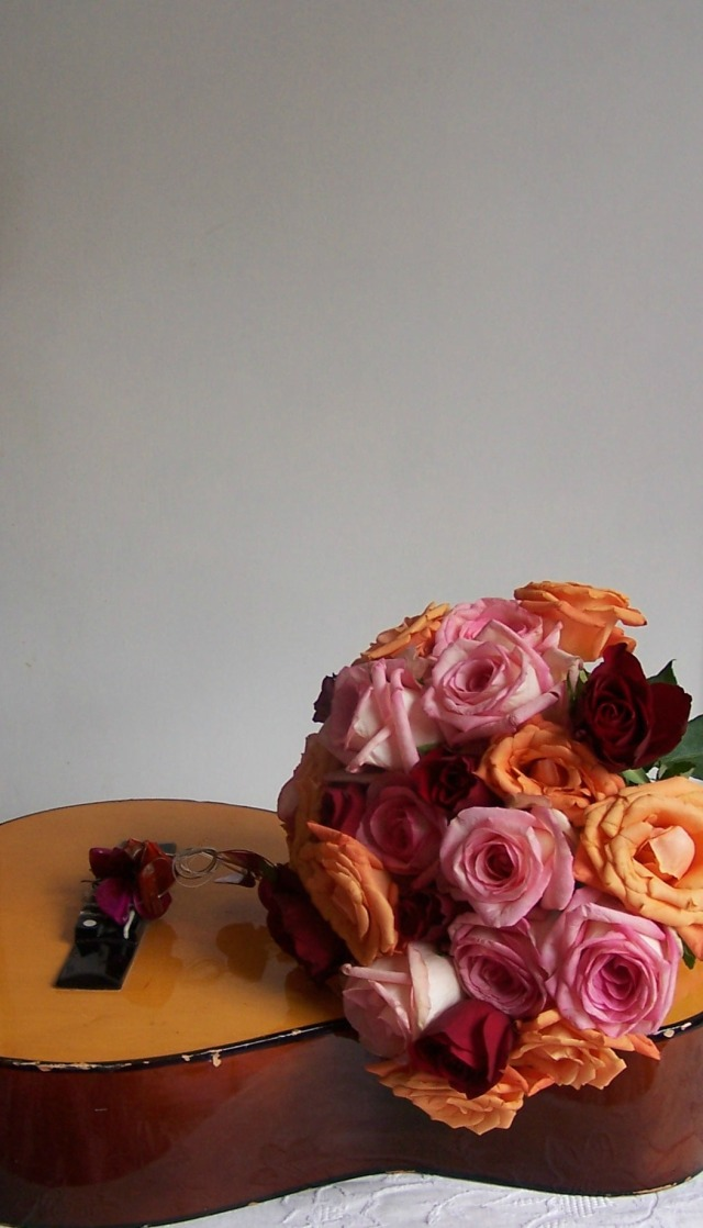 pink orange rose handtied bouquet the london flower lover 076