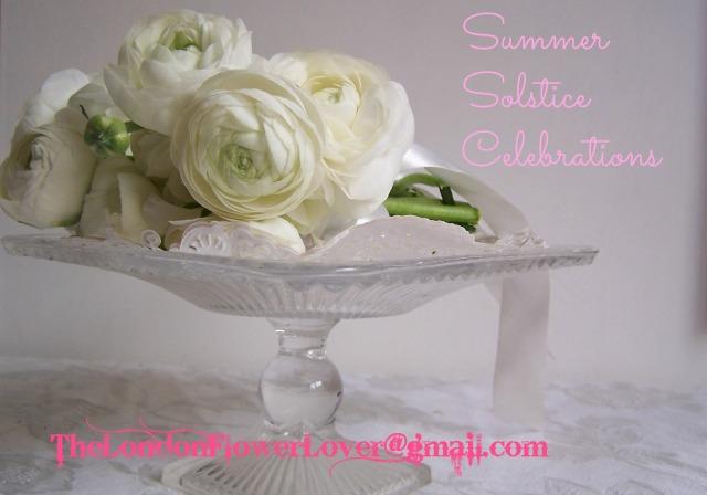 white ranuculus summer solstice flowers The London Flower Lover
