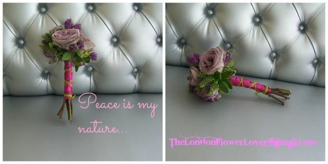 thelondonflowerlover peace is my nature silver chair rose posy Collage