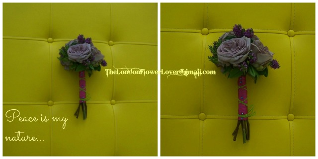 TheLondonFlowerLover peace is my nature yellow background rose posy Collage