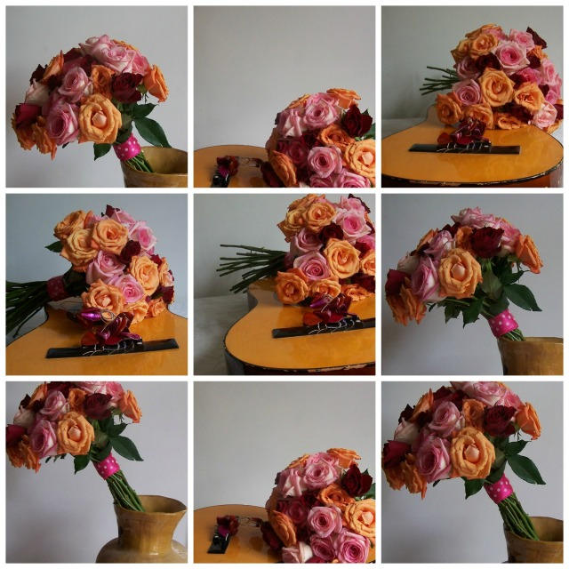 the rose Collage orange, pink red roses the london flower lover