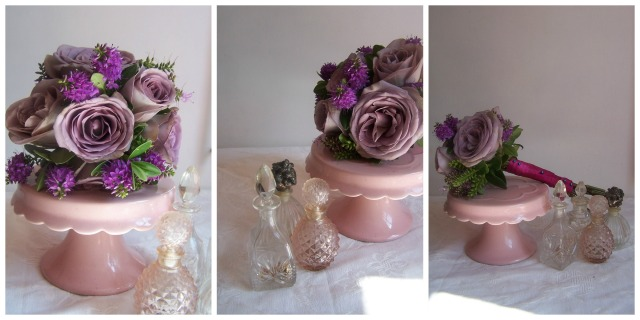 thelondonflowerlover rose posy and perfume Collage