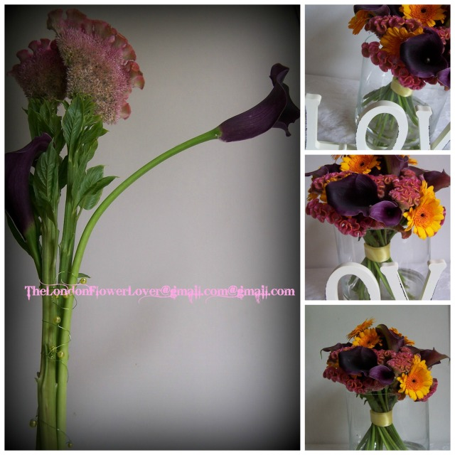 the London Flower Lover Autumn colours  Collage