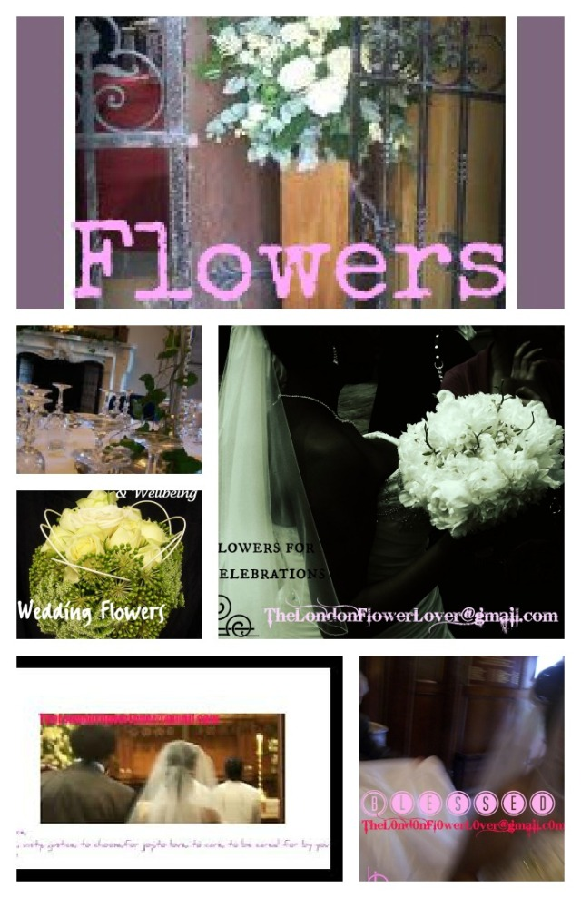 Wedding Flowers White Collage