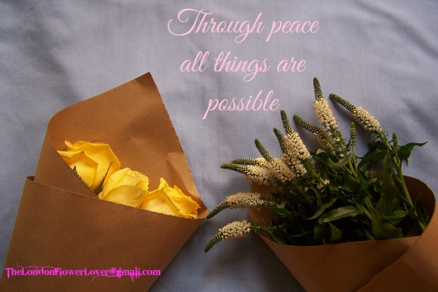 TheLondonflowerlover all things are possible through peace