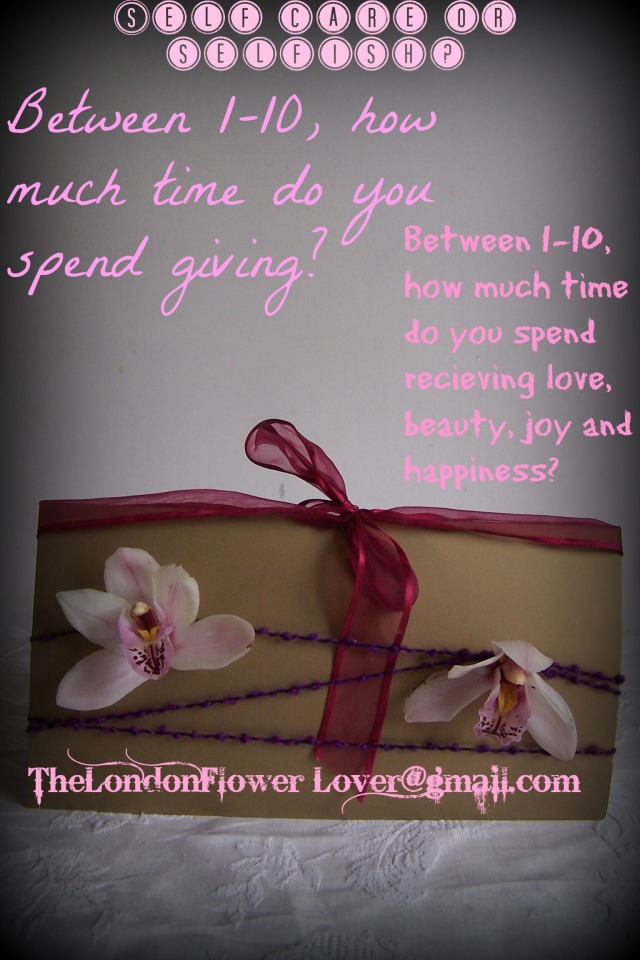 The London Flower Lover selfish or self care Flower Gift cards