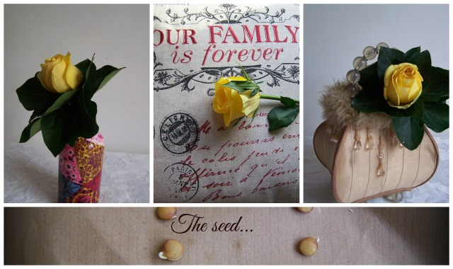 The London Flower Lover The yellow rose and the seed our family is forever collage nkey Collage