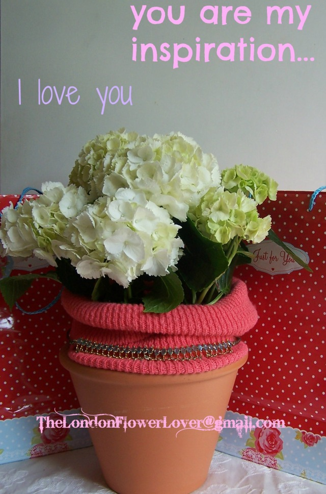 The London Flower Lover Hydragena Mothers Day I love you