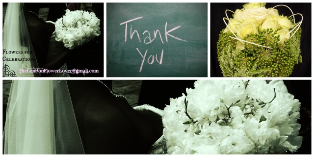 Thank you white classic flowers Collage