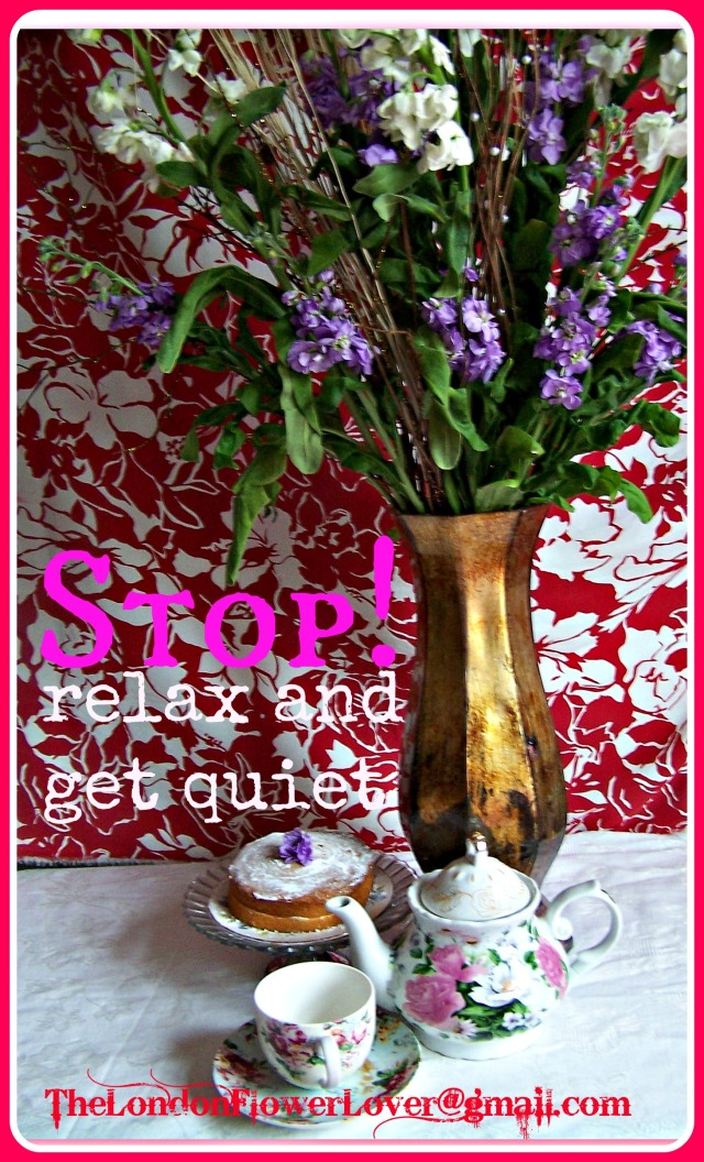the london flower lover stop relax and get quiet cake flowers teapot