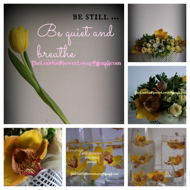 the london flower lover yellow cymbidium orchid roses and tulips