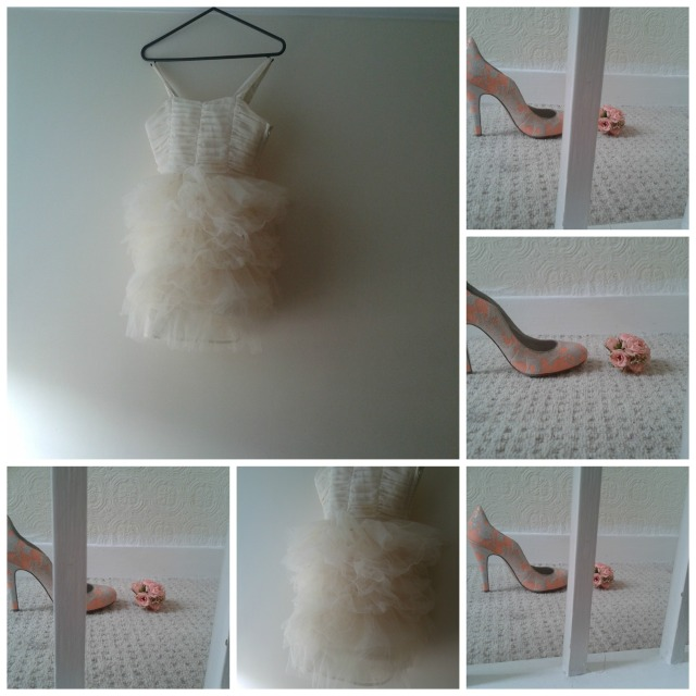 The London Flower Lover feminine flowers shoes dress  Collage