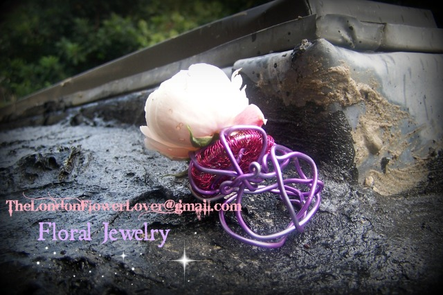 Floral Jewelry Pink Rose Ring The London Flower Lover
