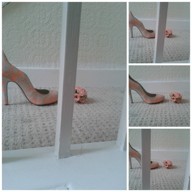 The london Flower Lover flowers  shoes and stairs  Collage