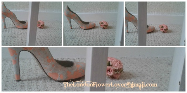 The London Flower Lover shoes and flowers Collage