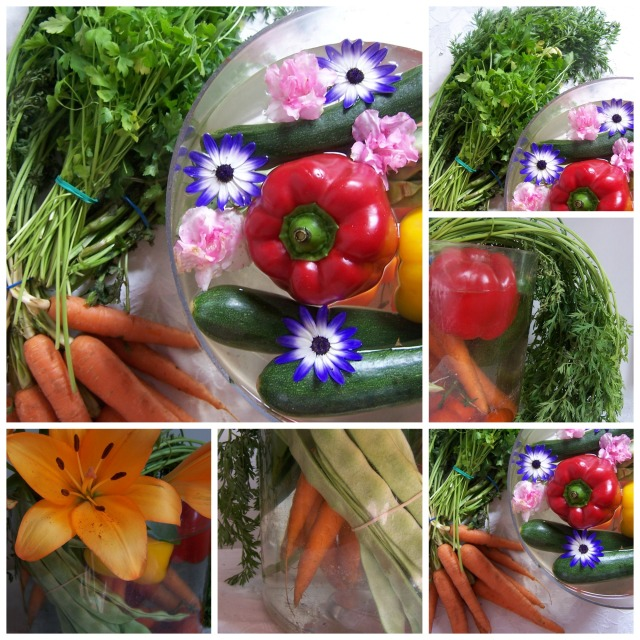 The London Flower Lover Vegetables and flowers  Collage