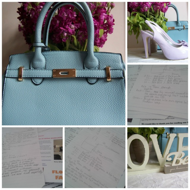 SKy blue Handbags and Oracle  the londonflowerlover Collage