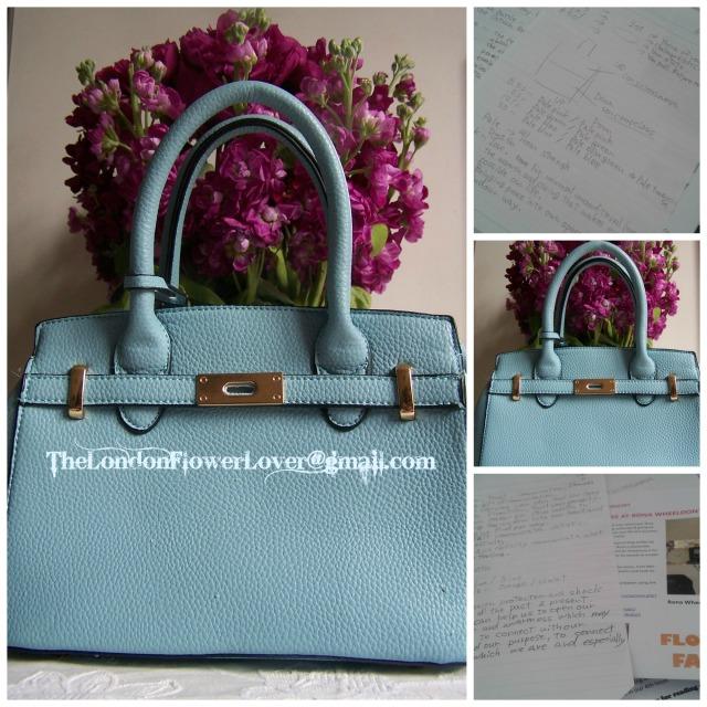 Tehuti Sky Blue Handbag Oracle,Flowers The London Flower Lover Collage
