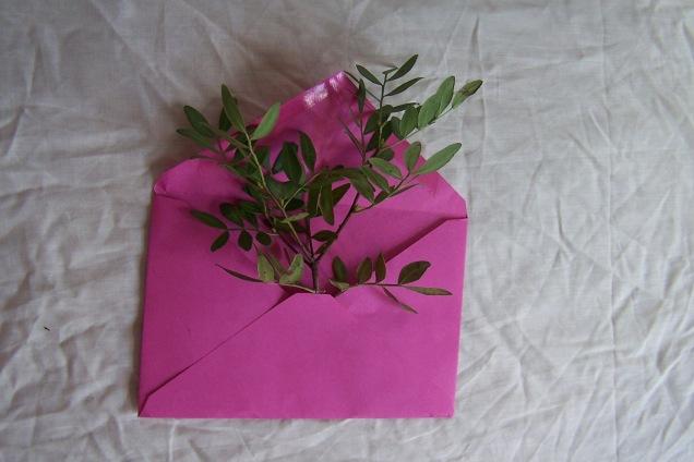 leaves in an envelope the London flower lover