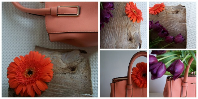 Orange gerbera  purple tulips and wood thelondonflowerlover Collage