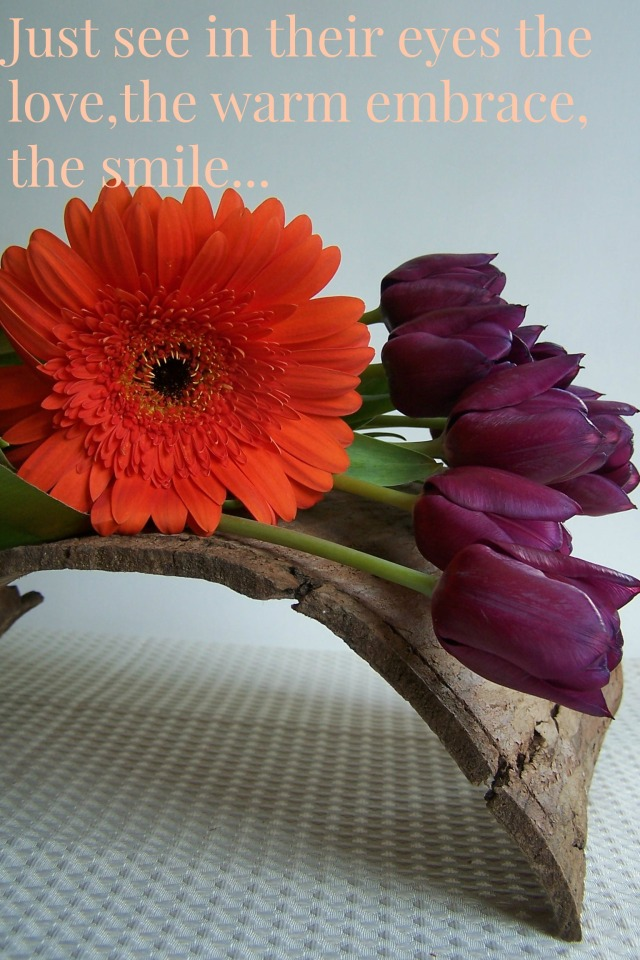 Thoughts become things 2 The London Flower Lover Orange Gerbera and Purple Tulips