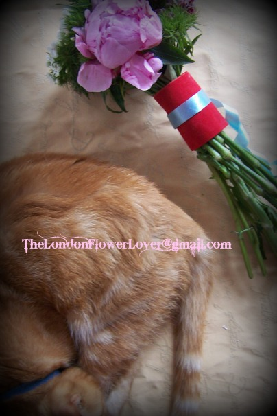 thelondonflowerlover tootisie and flower bouquet