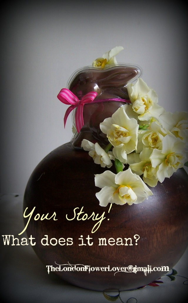 Your story what does it mean the london flower lover easter bunny and yellow daffodils