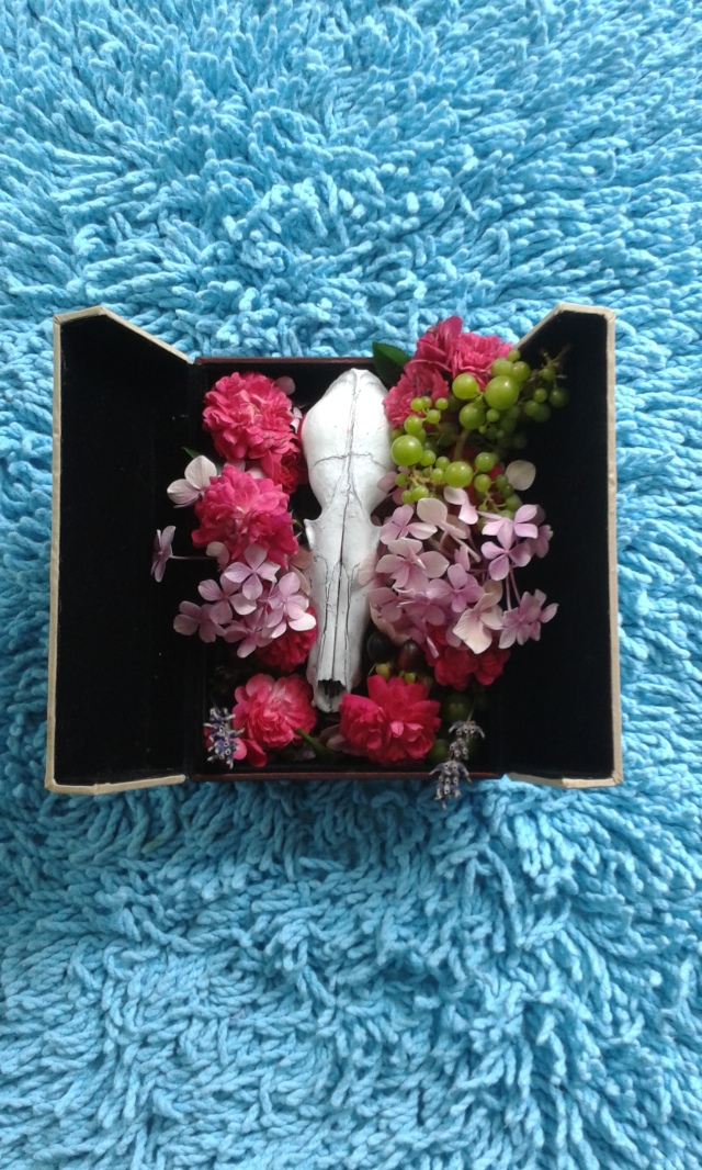 skull and flowers the london flower lover