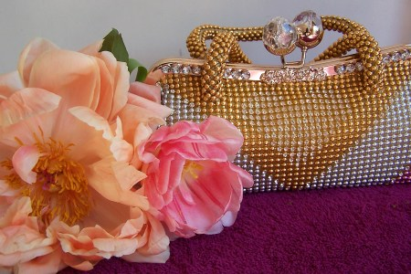 Pink and Orange Peonies and Handbag The London Flower Lover
