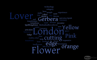 The London Flower Lover words black and blue