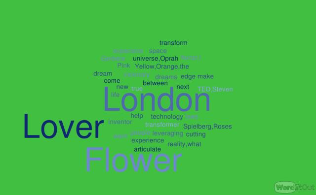 The London Flower Lover words green