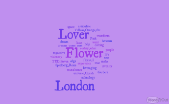The London Flower Lover words