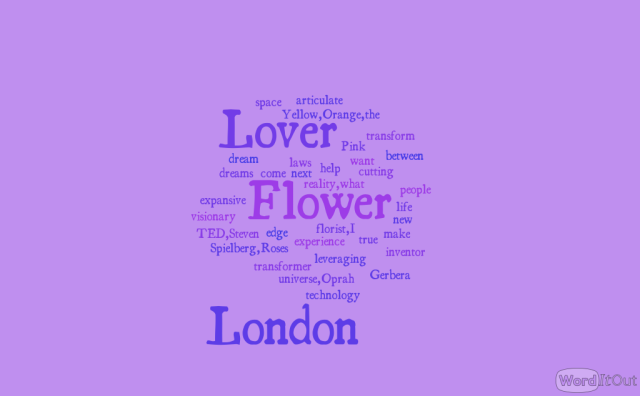 The London Flower Lover words